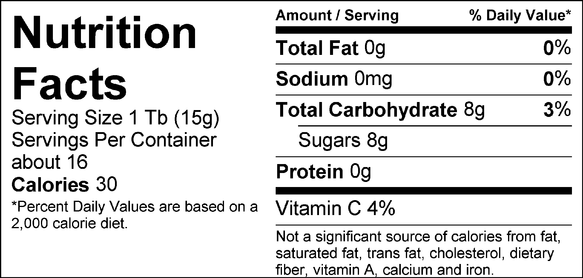 Simply Strawberry nutrition facts