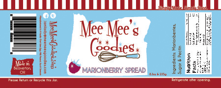 Marionberry Spread Nutrition Facts